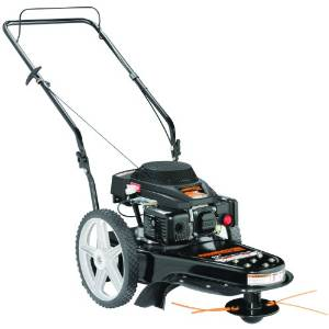 wheeled string lawn mower