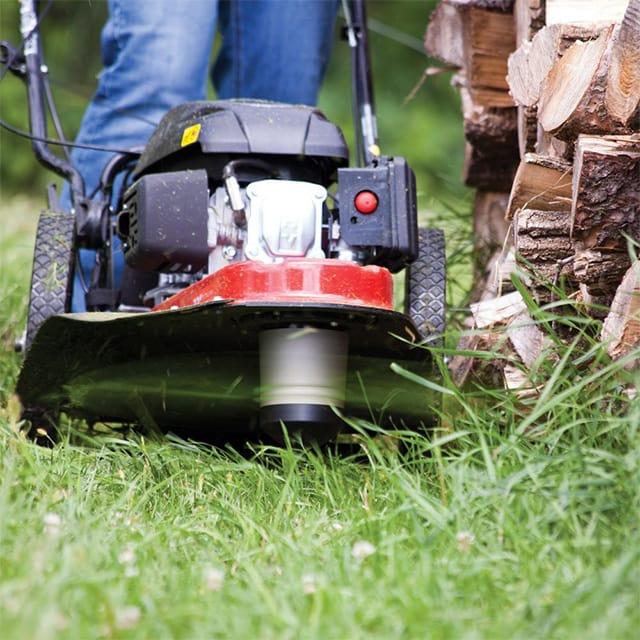 mowering a lawn