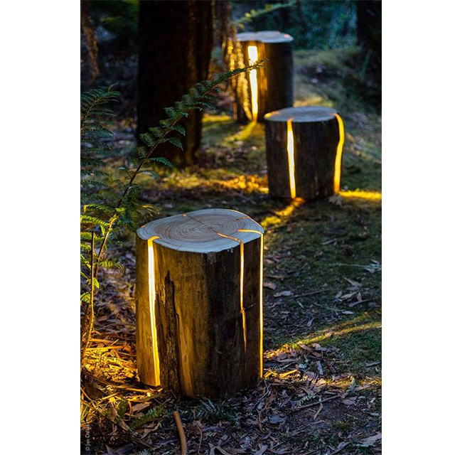 Cracked Log Lamp Range