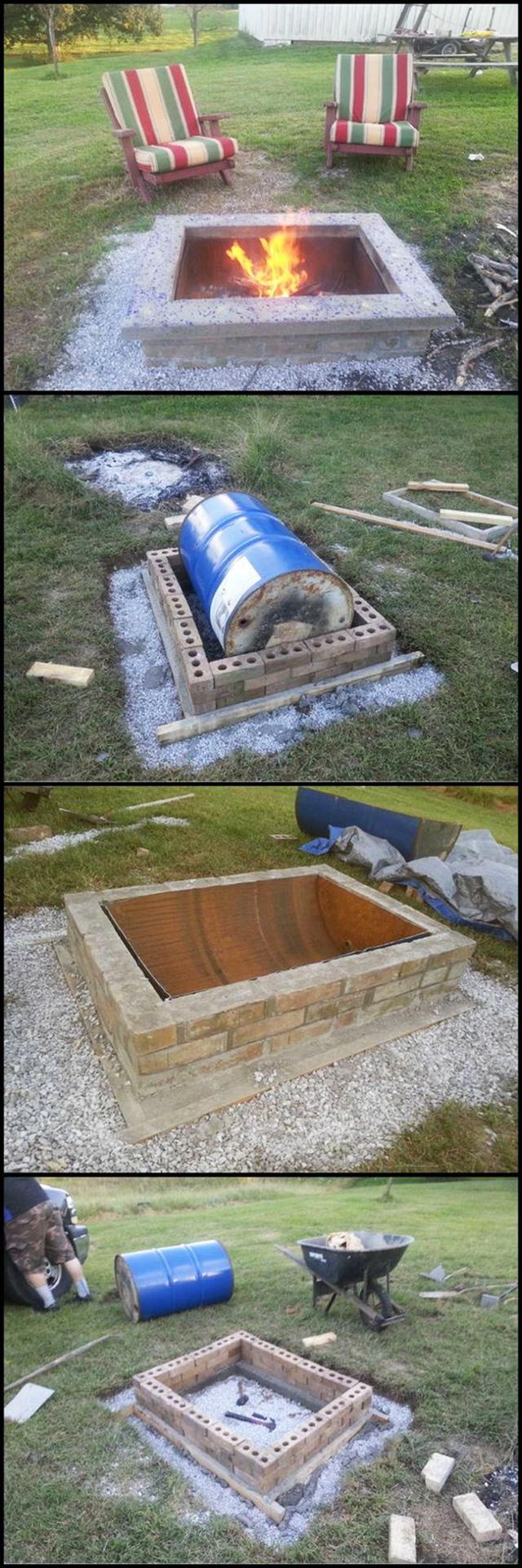 Custom Cap Stone Fire-Pit