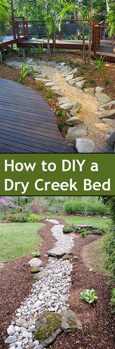 50 super easy dry creek landscaping ideas you can make for Simple diy garden designs