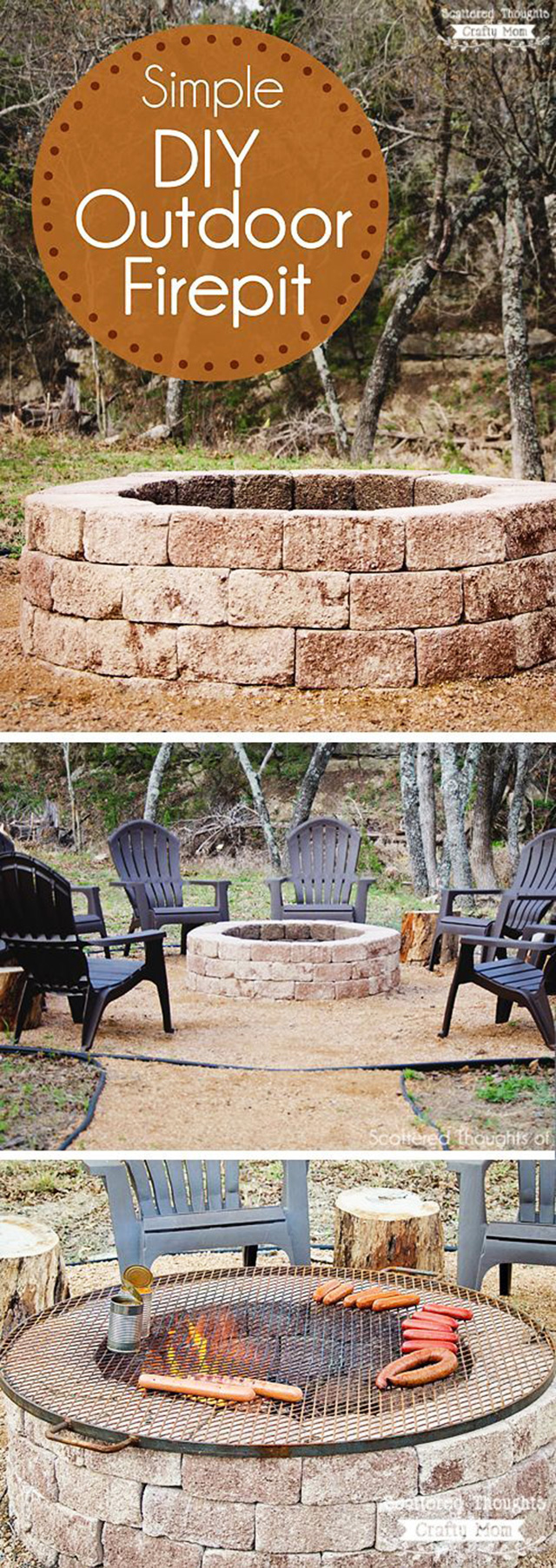 27 surprisingly easy diy bbq fire pits anyone can make for Easy diy fire pit with grill