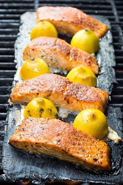 Lemon Plank-Smoked Salmon