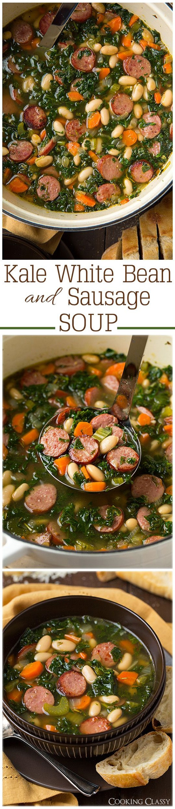 Kale White Bean and Sausage Soup