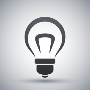 41125062 - vector light bulb icon