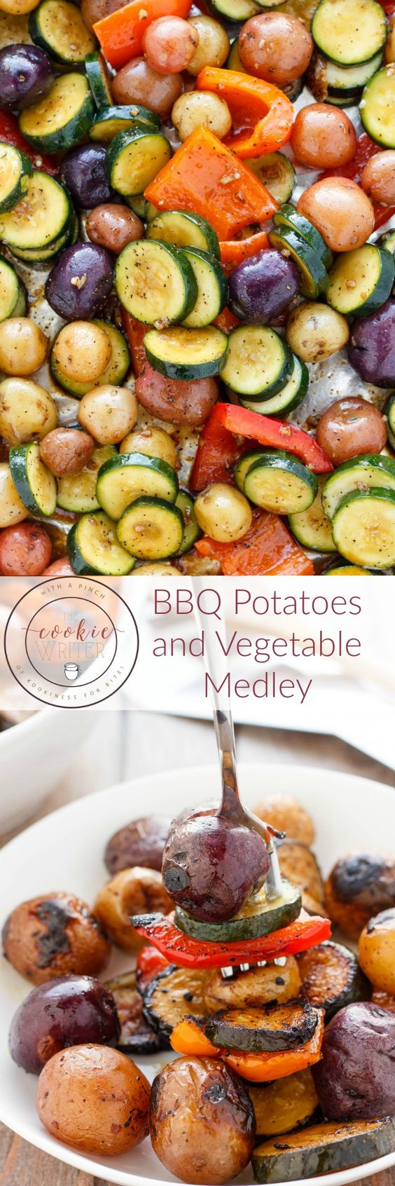 The Cookie Writer - BBQ potatoes and vegetables medley