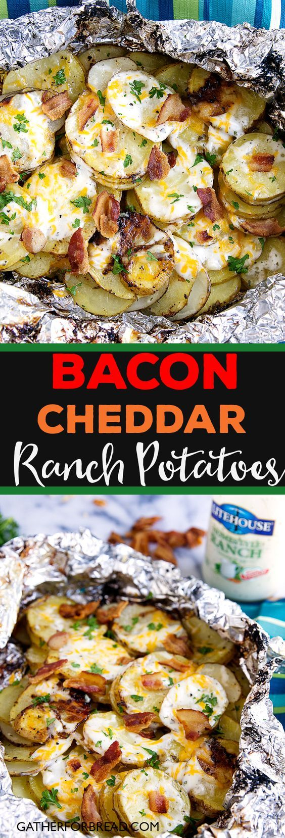 Bacon cheddar ranch potatoes by gatherforbread.com