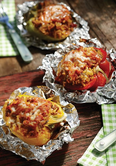 Beef Stuffed Pepper Boats