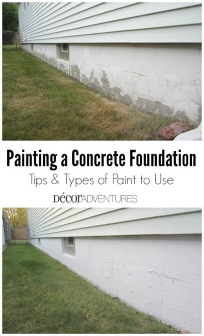 painting the foundation of your home