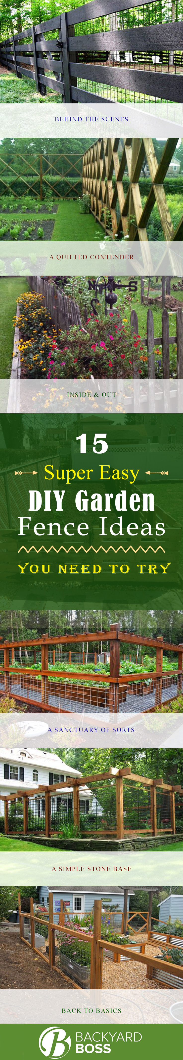 Simple Garden Fence Ideas a simple garden fence Related Posts