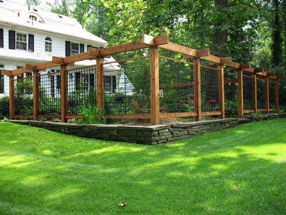 fence and pergola look