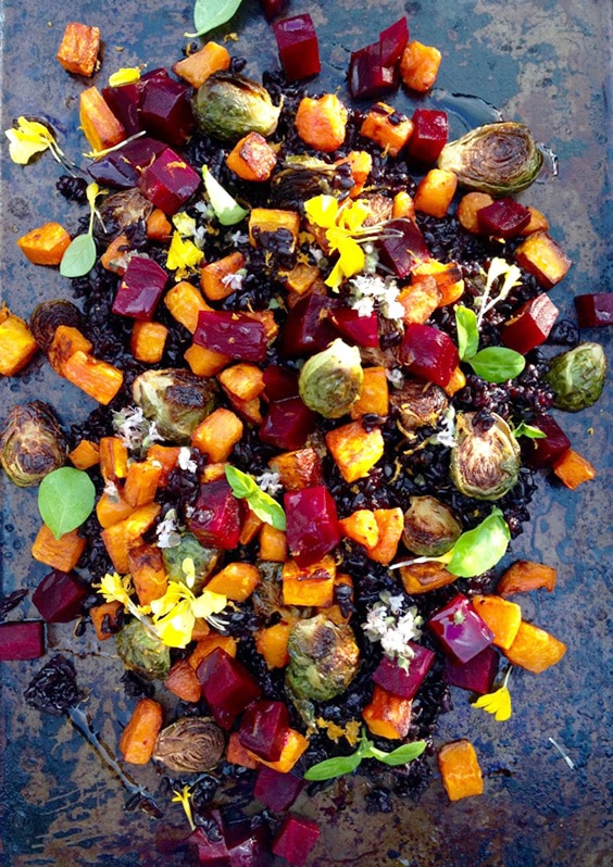 roasted red beets butternut squash roast brussels sprouts