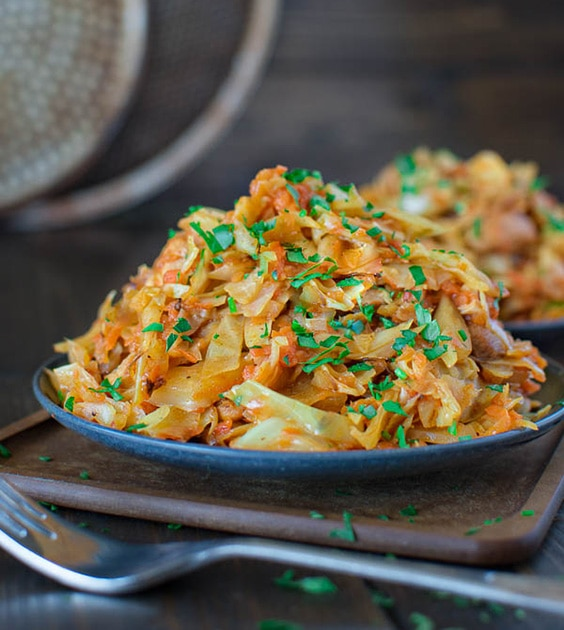cabbage sauteed chicken