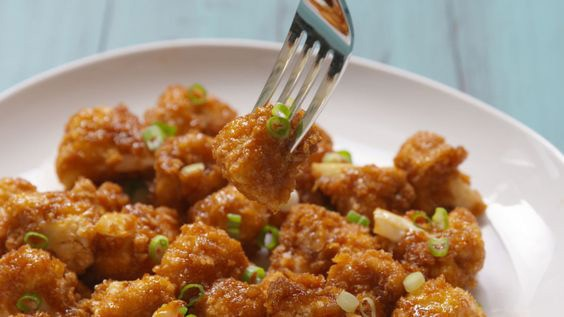 honey garlic cauliflower
