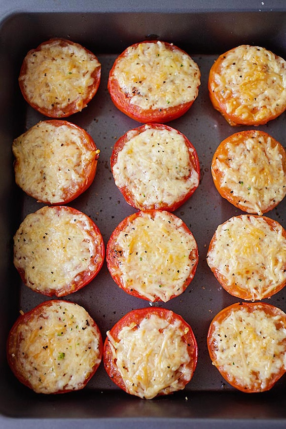 parmesan roasted tomatoes