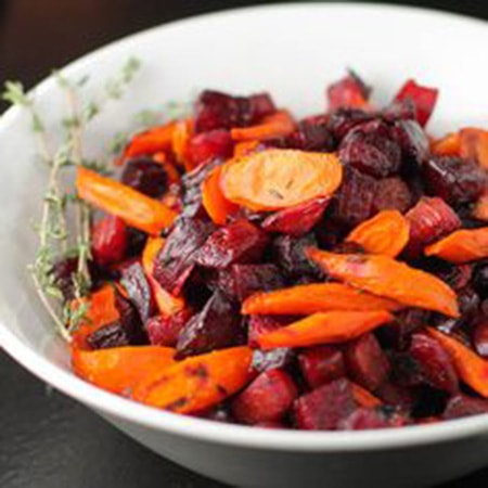 roasted carrots and beets thyme