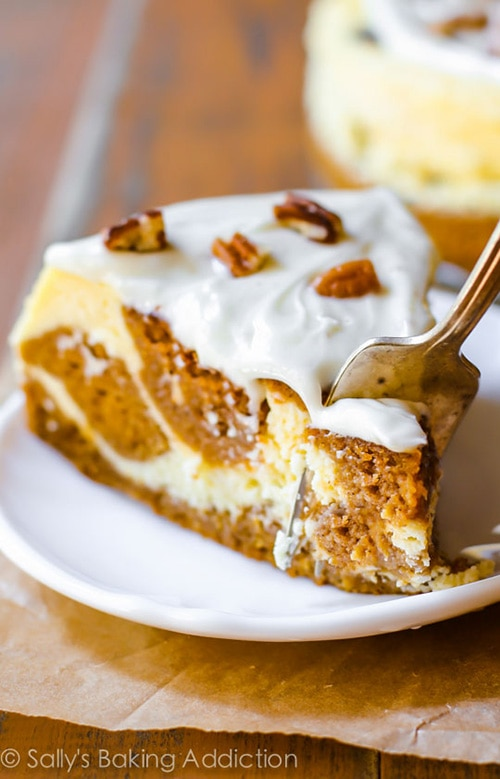 Cream Cheese Swirled Pumpkin Cake