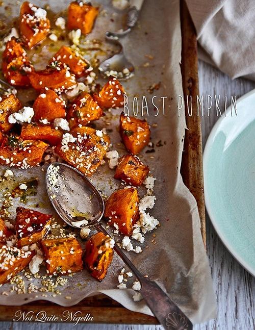 Feta and Honey Roasted Pumpkin