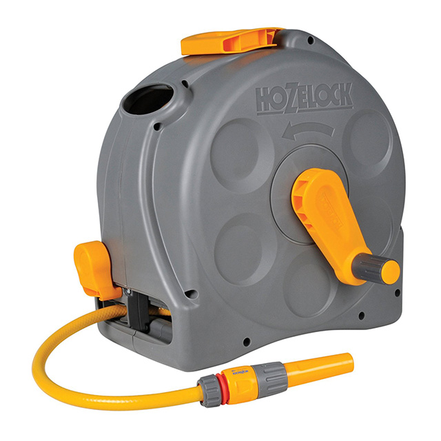 Hozelock 2-in-1 Compact Enclosed Hose Reel  sc 1 st  Backyard Boss & Best Garden Hose Reel Reviews 2018 - Our Top 5 Picks