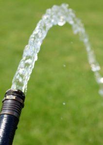 water from garden hose