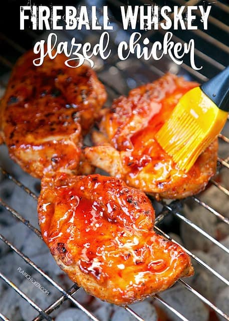 Fireball whiskey glazed chicken