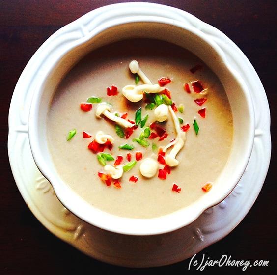 Mushroom Medley Scape Soup