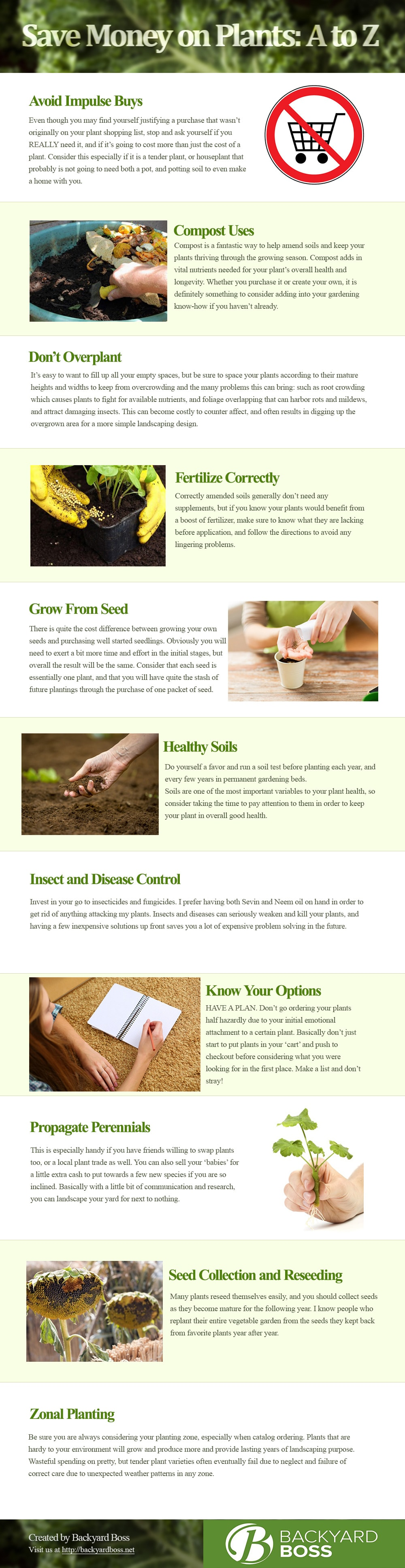 Save Money on Plants: A to Z Infographic