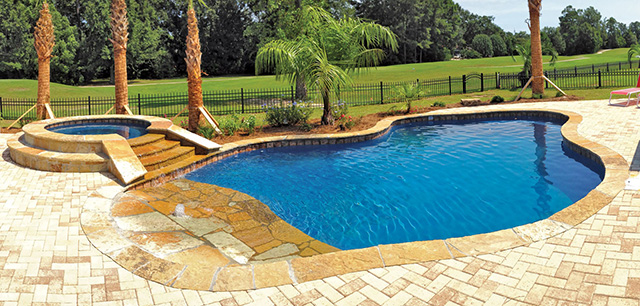 51 awesome backyard pool designs for Pool design for sloped yard
