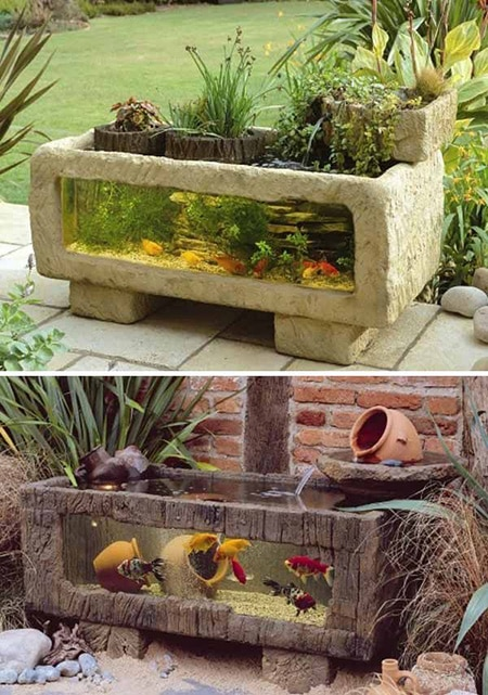 Backyard Aquarium - 76 Backyard And Garden Waterfall Ideas