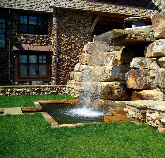 76 backyard and garden waterfall ideas for Yard waterfalls