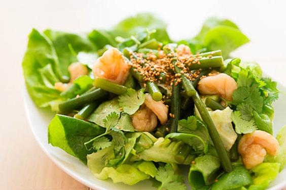 garlic scape salad