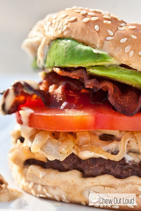 BLT Burger with Roasted Garlic Mayo