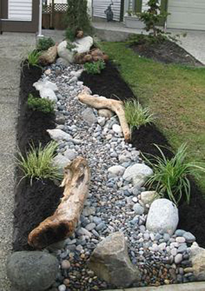 Dry Creek Bed Landscaper Lily Pond Designs
