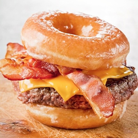 Bacon donut burger