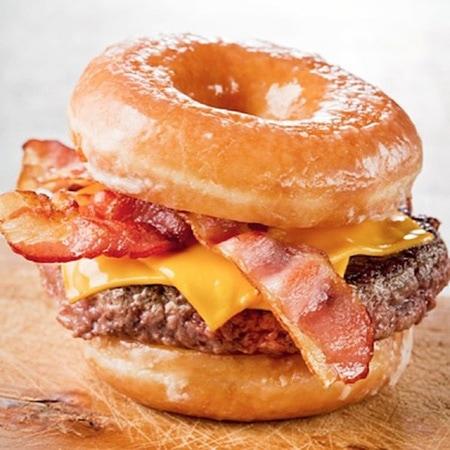 Bacon donut burger