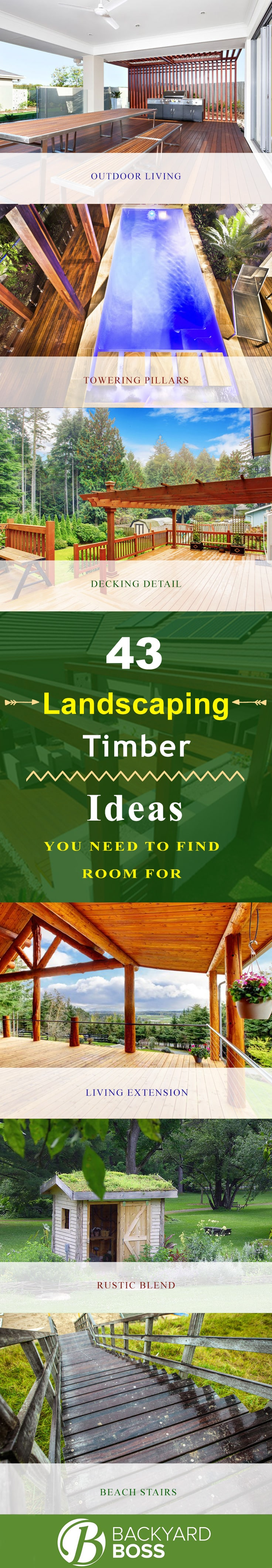 43 landscaping timber ideas you need to find room for