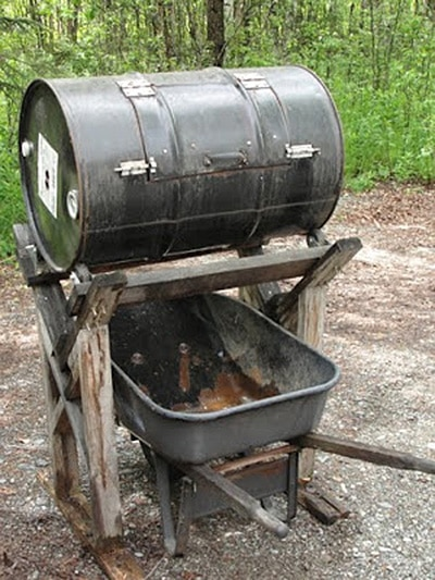 Barrel Wheelbarrow Compost Tumbler