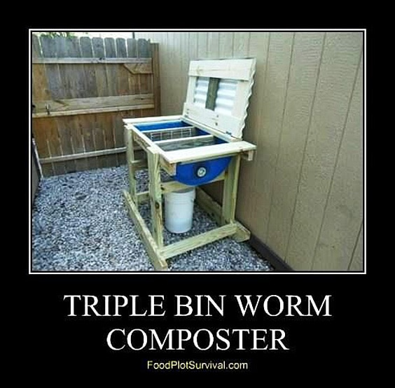 Triple Bin Vermicomposter