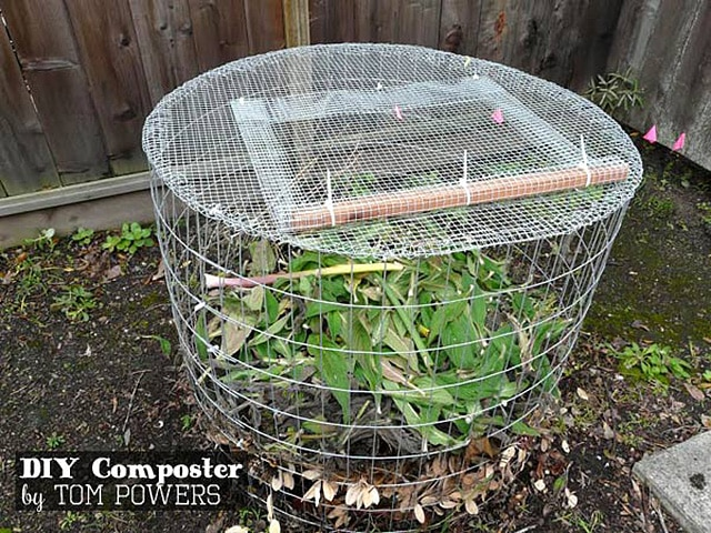Wire Panel Compost Bin