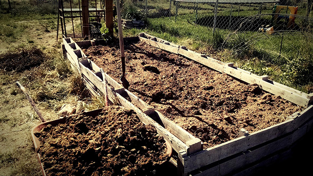 Add in Manure, Compost, and/or Garden Soils