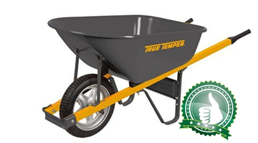 Featured Image - TRUE TEMPER 6 CUBIC FOOT STEEL WHEELBARROW REVIEW