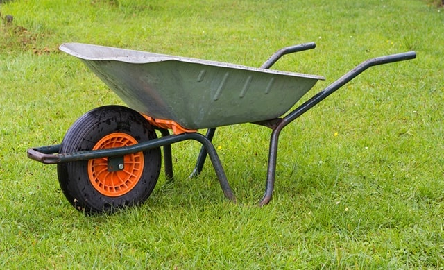 Galvanised Steel wheelbarrow