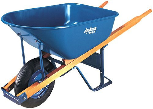.Jackson M6T22 6 Cubic foot Steel Tray Contractor Wheelbarrow