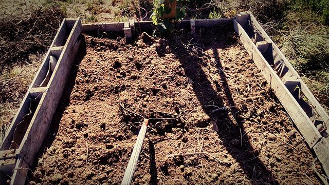 level the soil