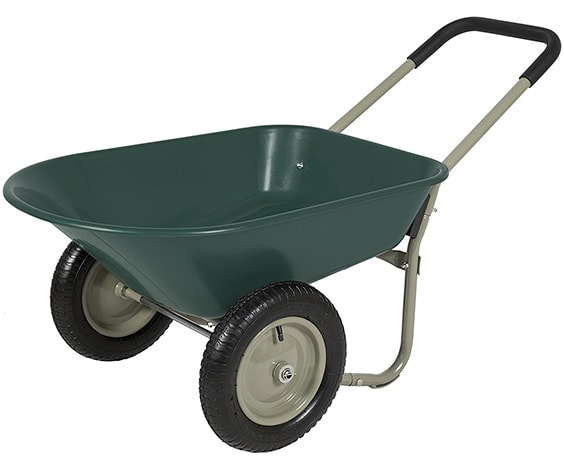 Powder coated steel wheelbarrow