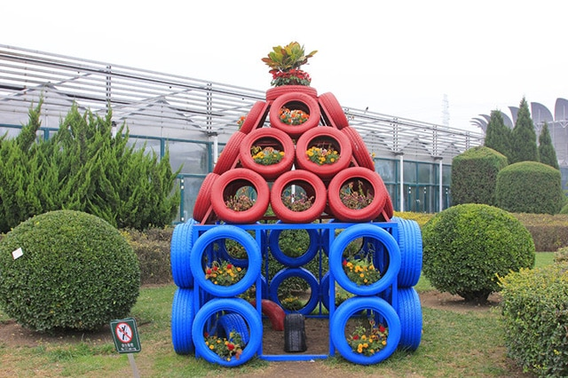 Tire Planter Fun House