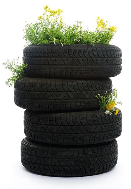 Topsy Turvy Stacked Tire Planter
