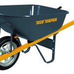 True-Temper-6-Cubic-Foot-Never-Flat-Tire-Steel-Wheelbarrow