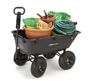 gorilla cart with gardening tools