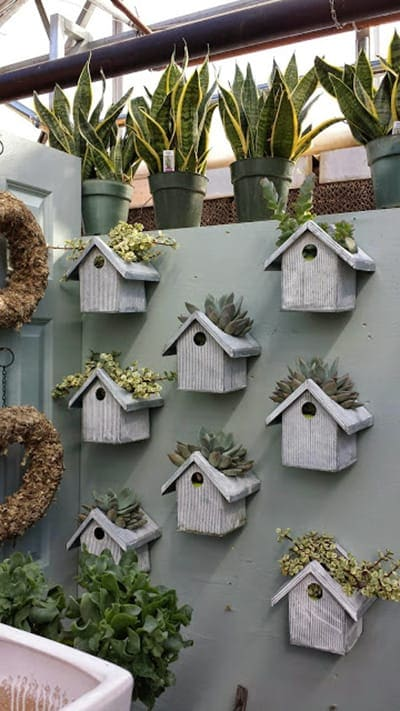 Bird house planters